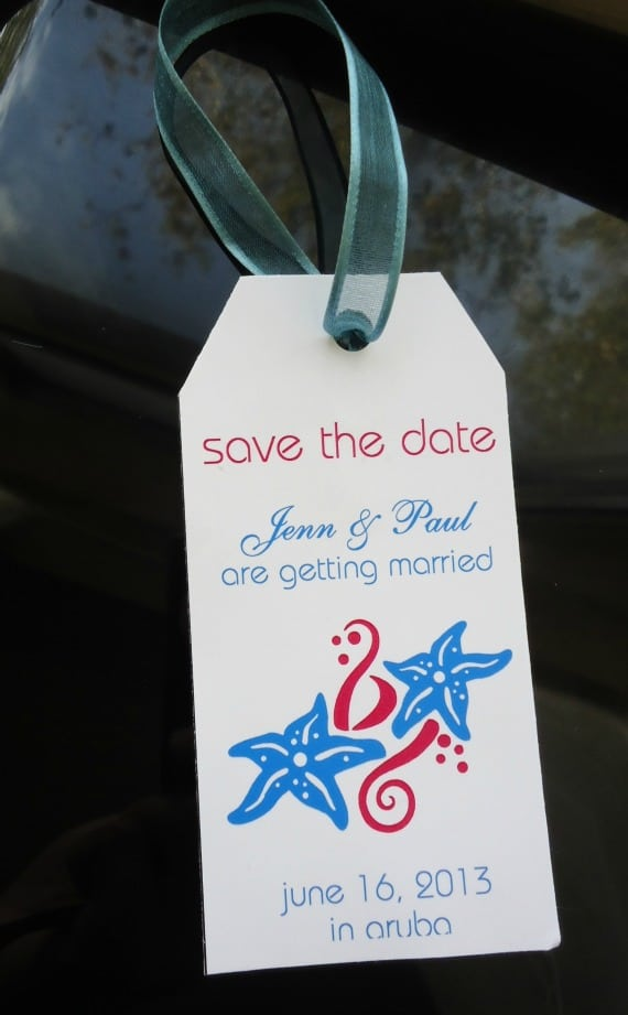 Save The Date Destination Weddings - Luggage Tag Template
