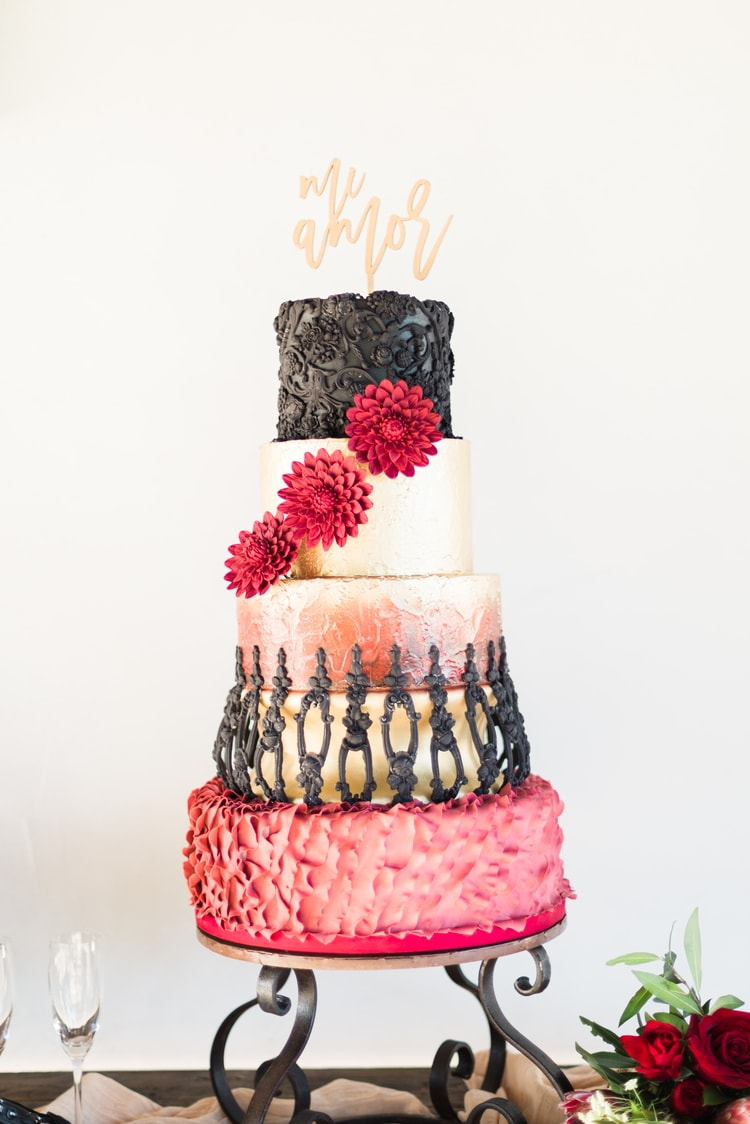 spanish inspired destination wedding cake