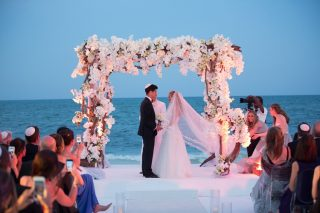 Sunset Beach Wedding at the Banyan Tree Mayakoba
