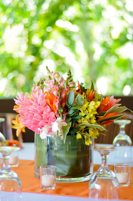 Charmant Tropical Beach Wedding Centerpieces_2