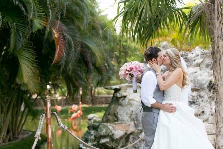 turquoise and pink wedding in riviera maya