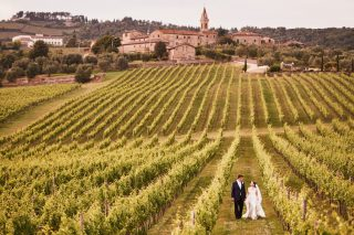 Luxury Tuscan Wedding in a Conservatory Overlooking a Wine Vineyard
