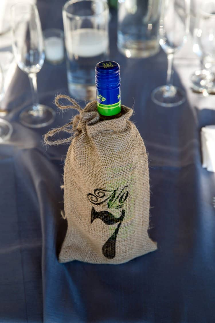 wedding burlap table number