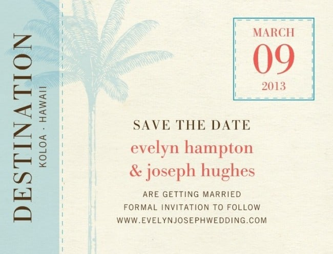 When to send destination wedding invitations and save the dates
