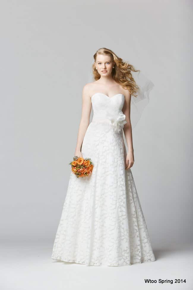 A-line beach wedding gown
