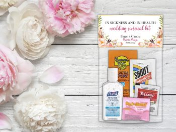 What to put in destination wedding hangover kit