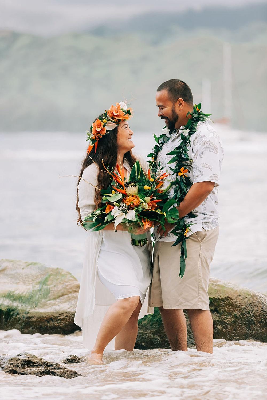 Hanalei Beach elopement 0003
