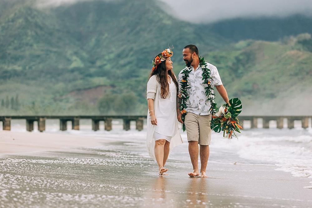 Hanalei Beach elopement 0014