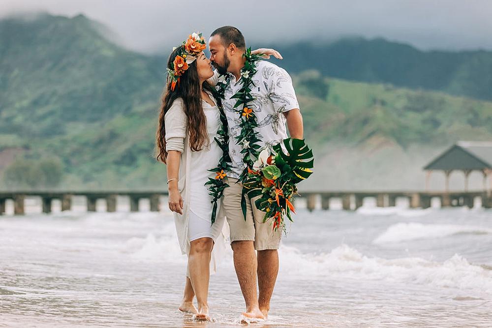 Hanalei Beach elopement 0016
