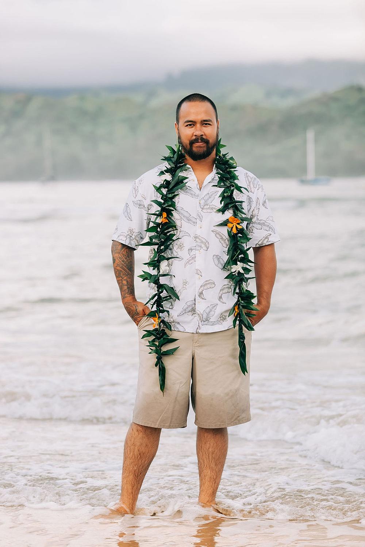 Hanalei Beach elopement 0025