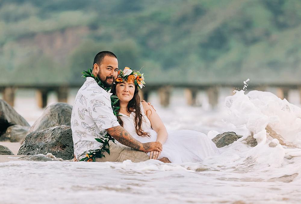 Hanalei Beach elopement 0035