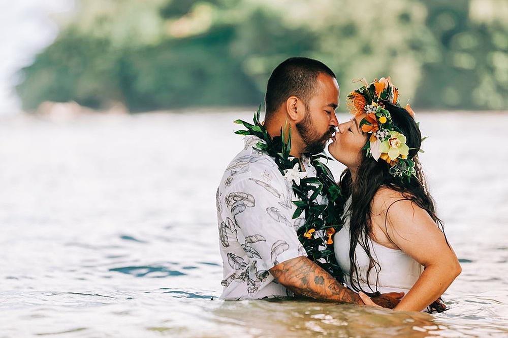 Hanalei Beach elopement 0039