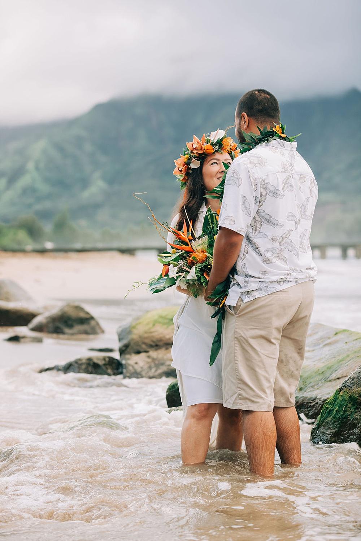 Hanalei Beach elopement 0078