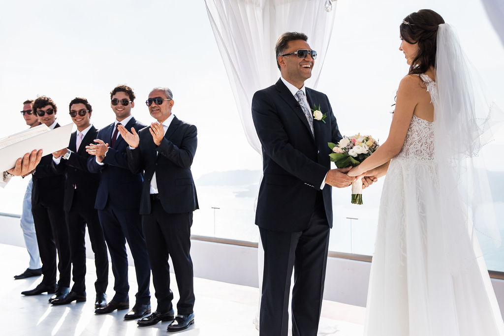 Romantic Santorini wedding 24