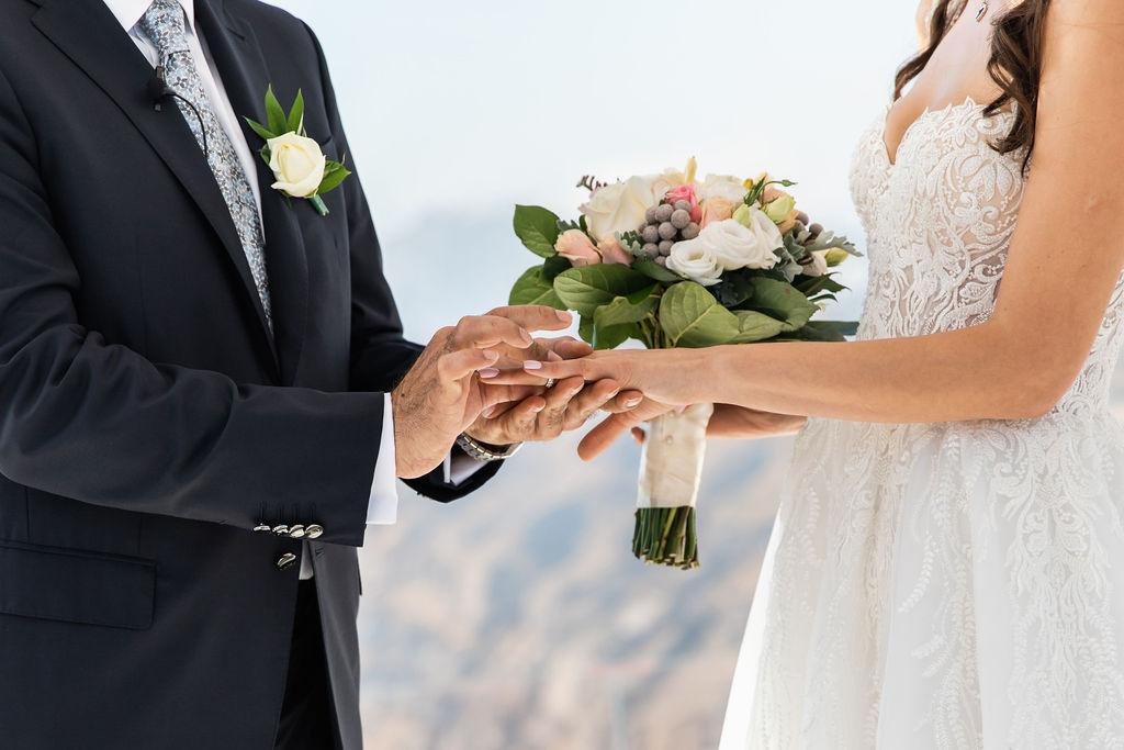 Romantic Santorini wedding 26