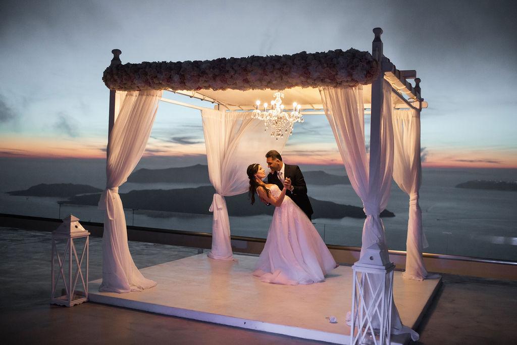 Romantic Santorini wedding 58