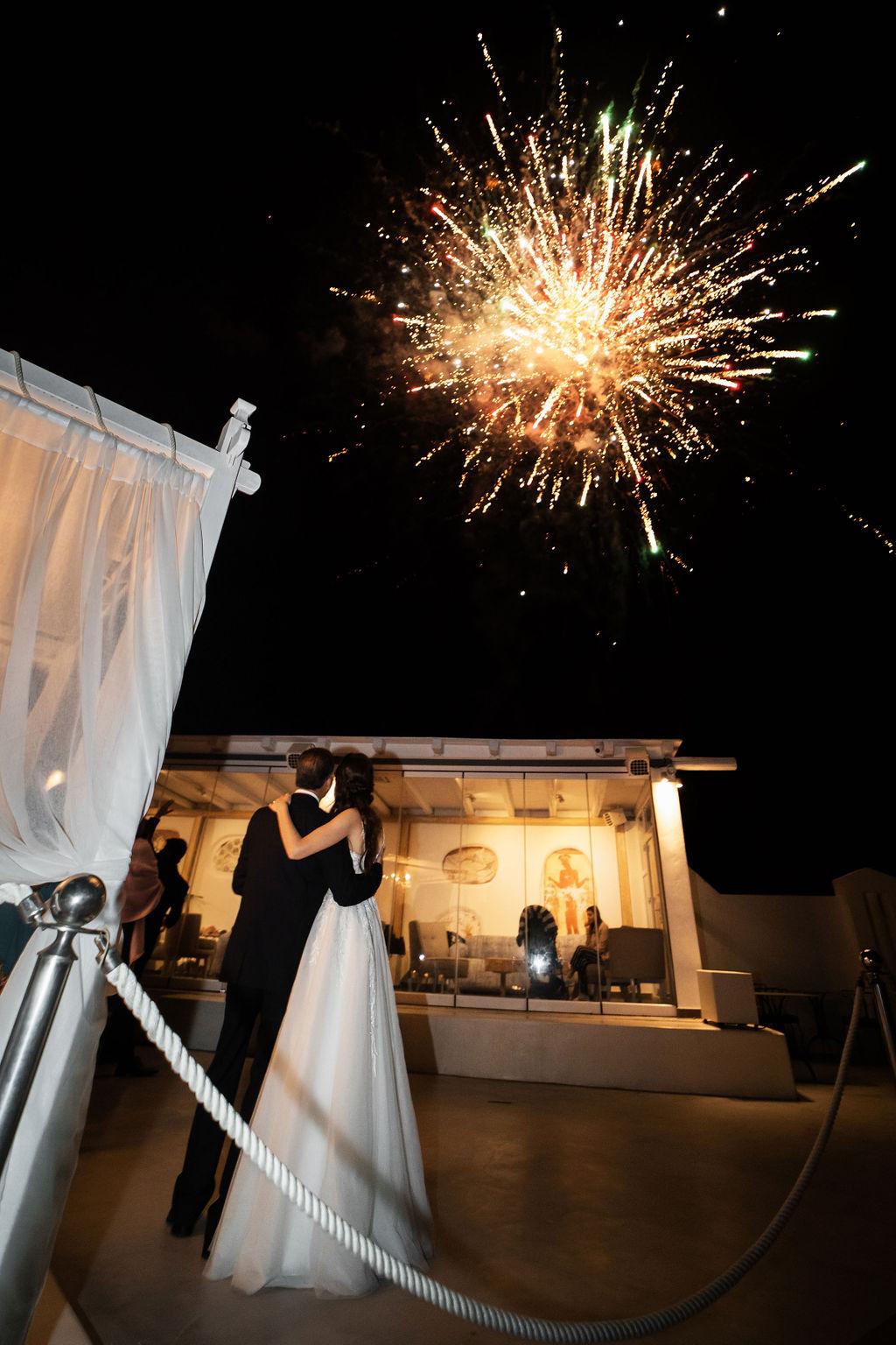 Romantic Santorini wedding 65