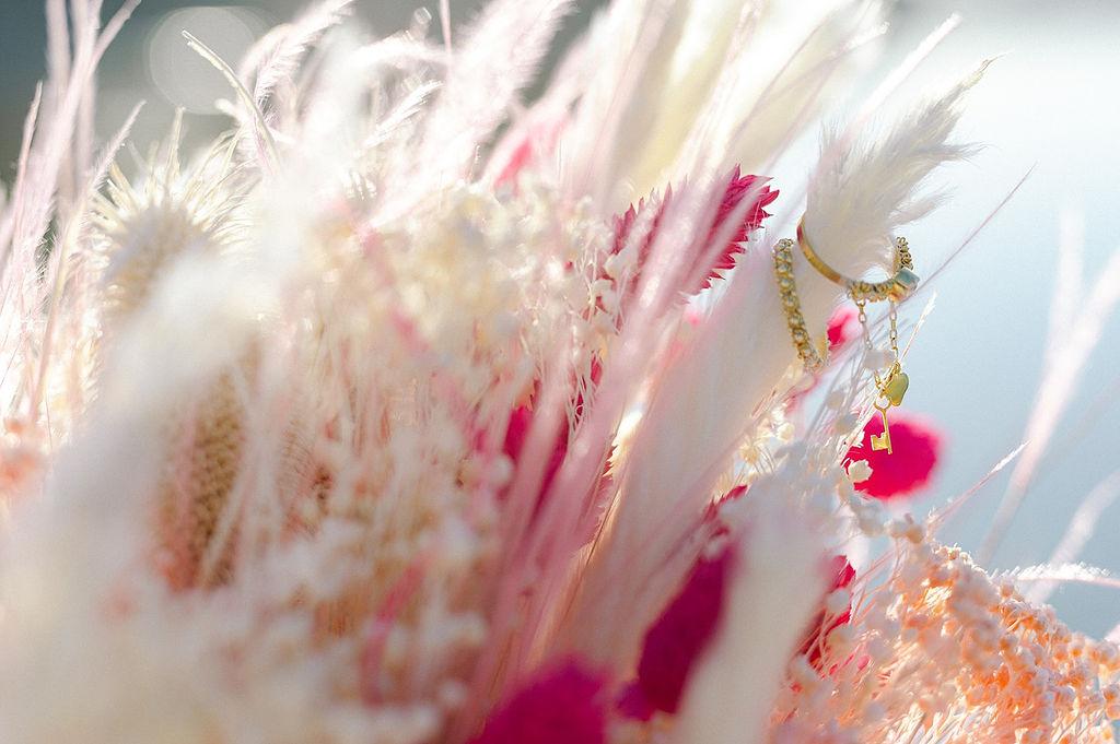 pampas grass wedding bouquet 4