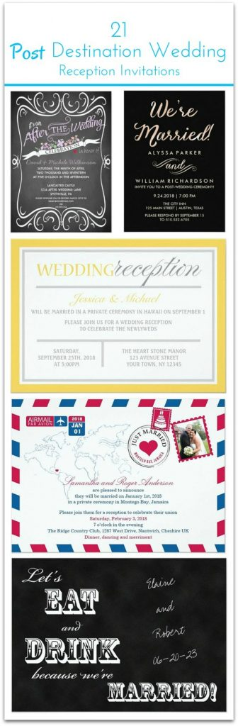 21 Beautiful Post Destination Wedding invitations