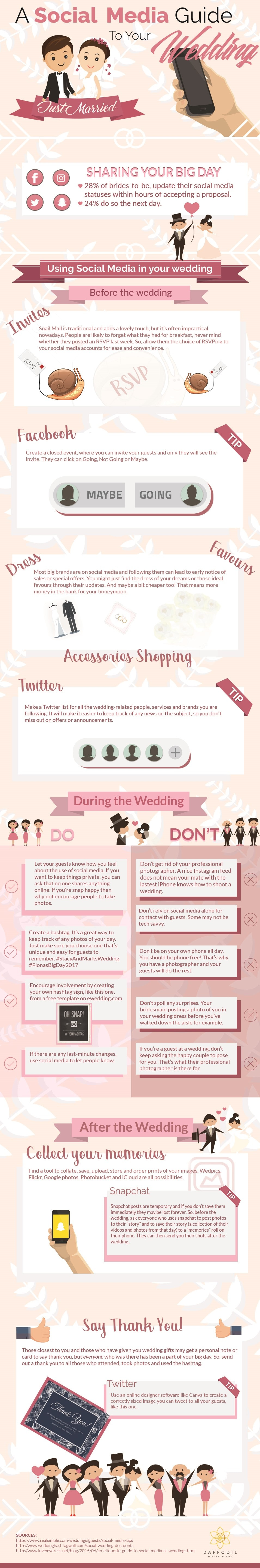 A social media guide to your destination wedding Infographic 1