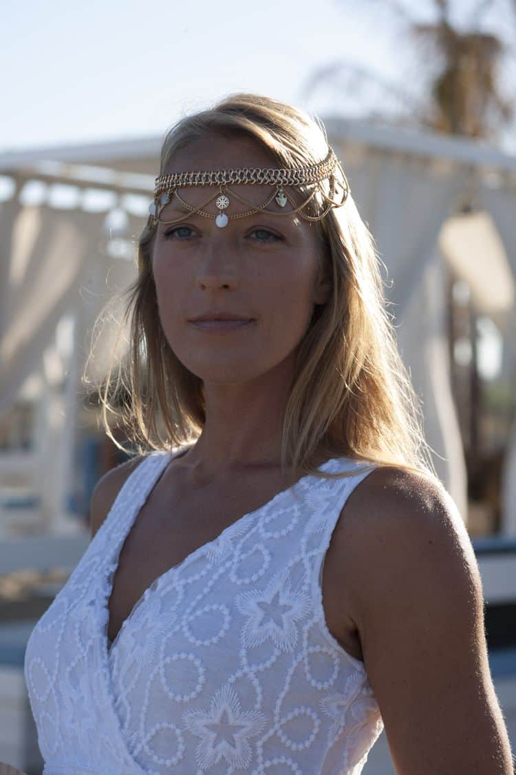 gorgeous Boho Beach Wedding headpiece