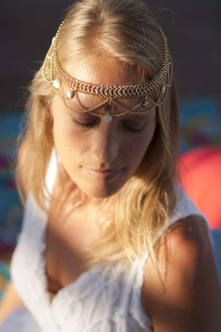 Boho beach wedding headpiece