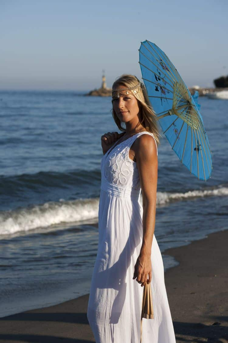 Beach Wedding parasol