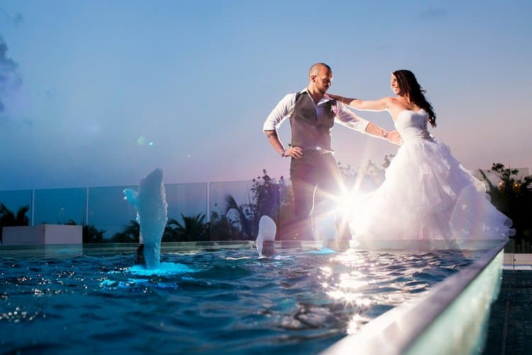 Beautiful destination wedding in Sandos Caracol in Playa Del Carmen-003