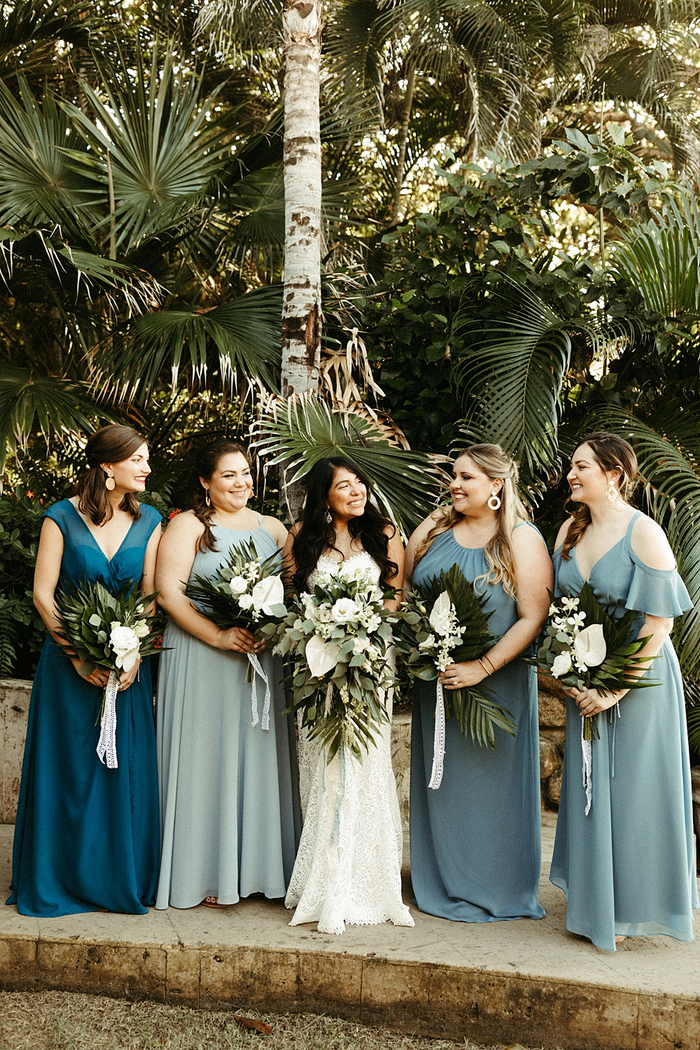 Blue Green Bridesmaids Dresses