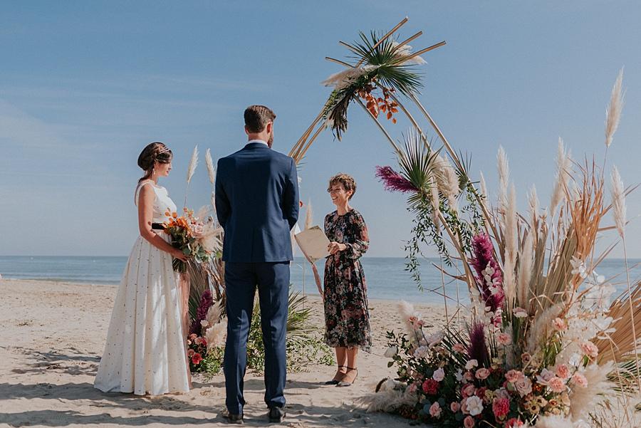 Boho Beach Wedding Ceremony