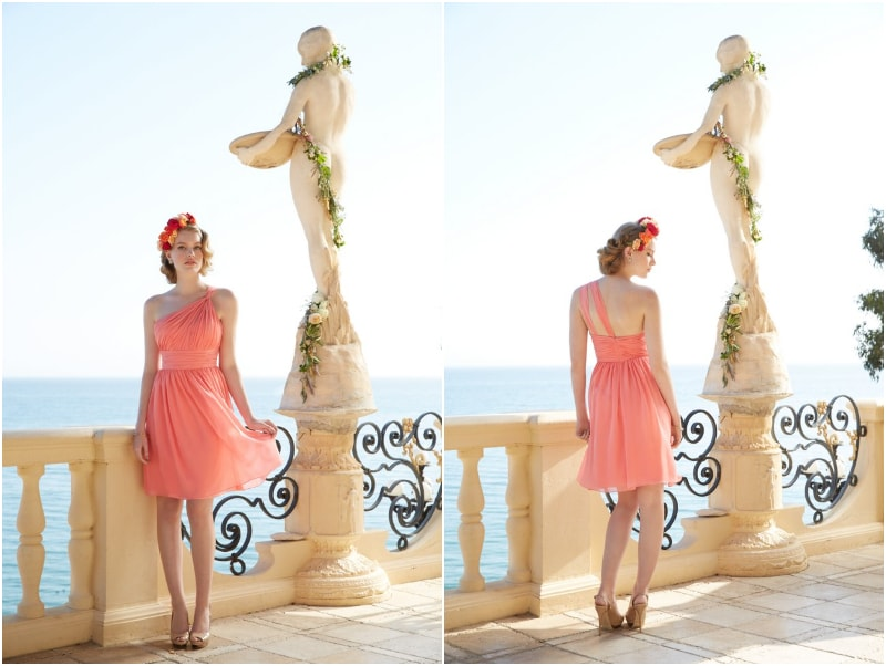 Bridesmaid Destination Wedding Dresses in Tropical Colors 1