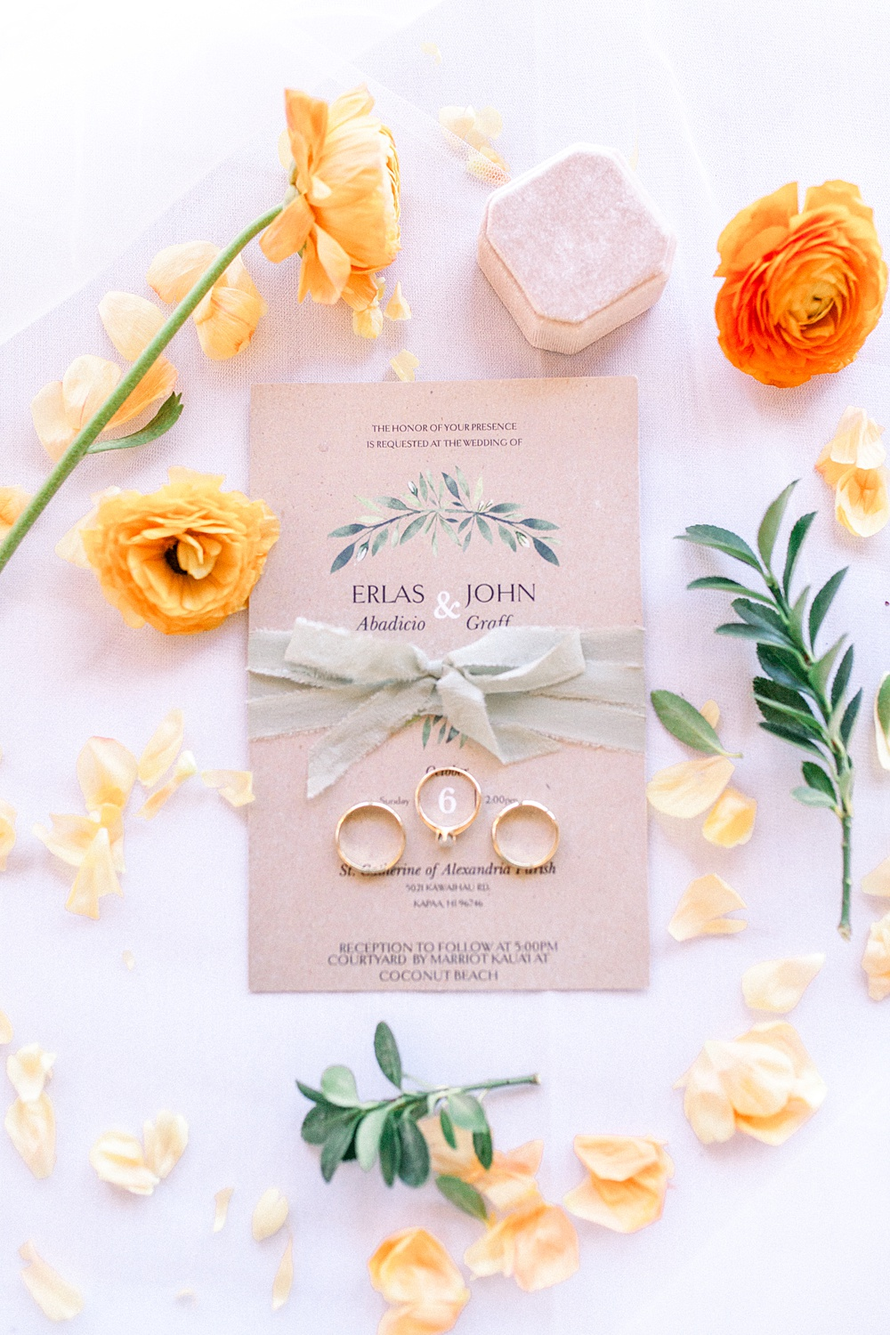 Bright Tropical Botanical Wedding Invitations