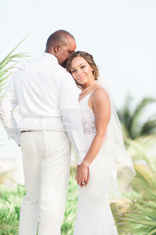 Cancun Elopement Wedding Portrait