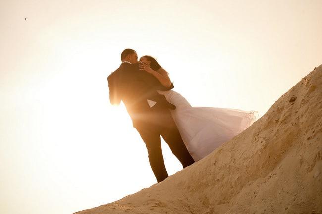 Cancun destination wedding trash the dress