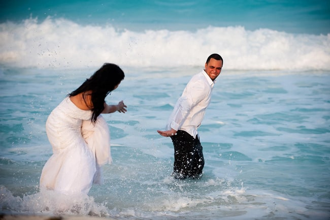 fun trash the dress pictures