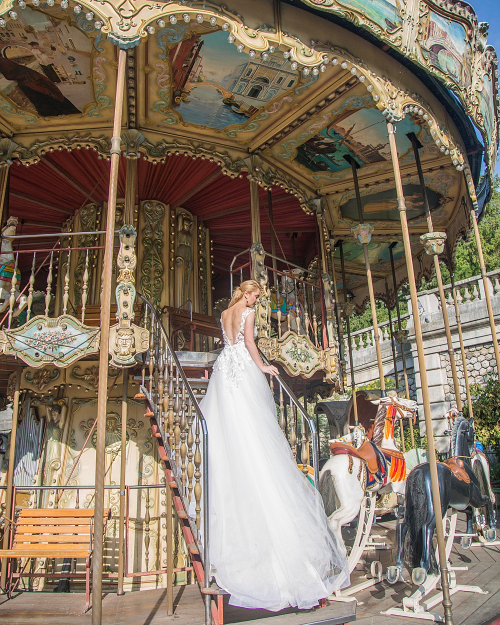 Carousel Chic Wedding Portrait