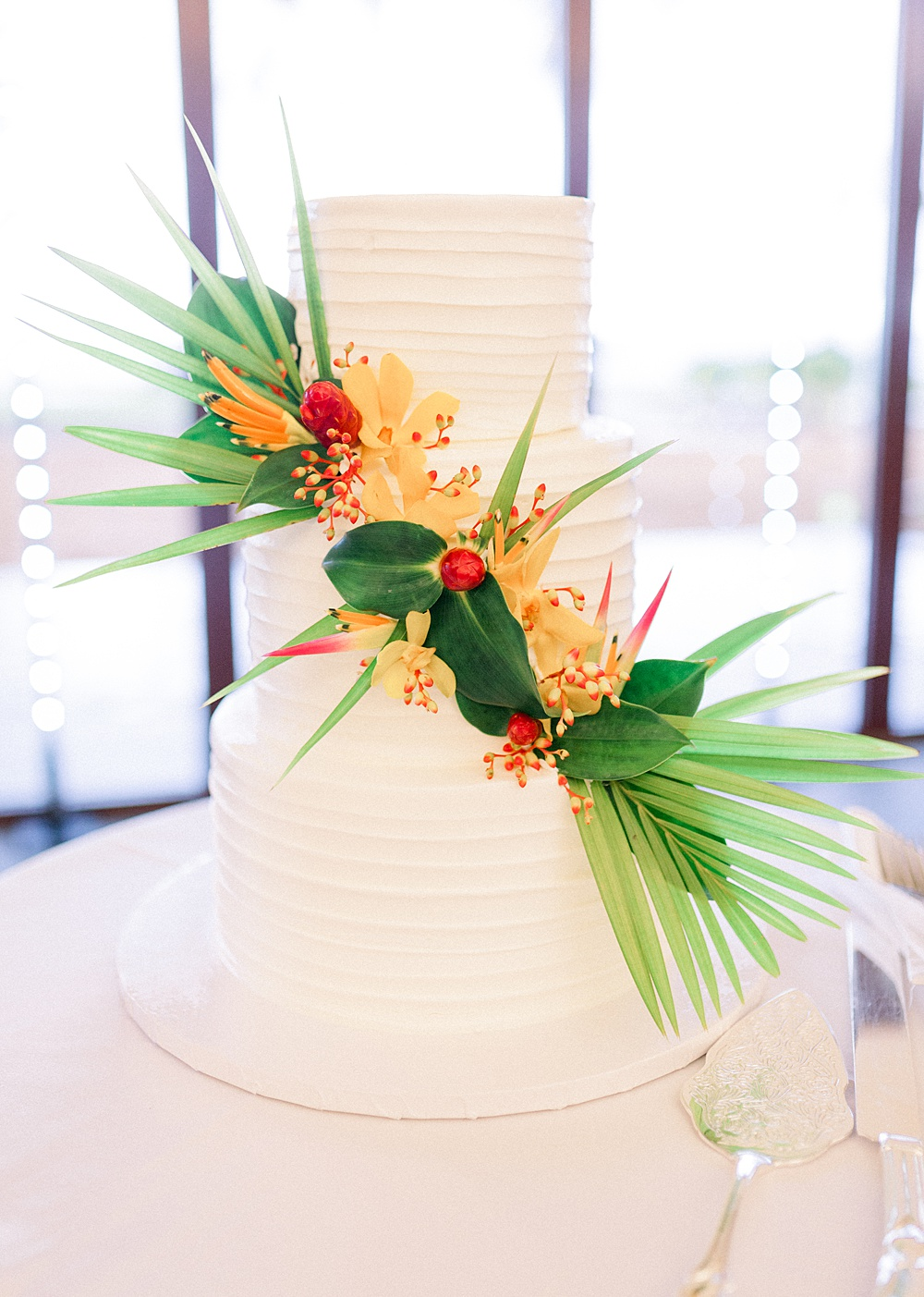 Classic Tropical Island Wedding Cake