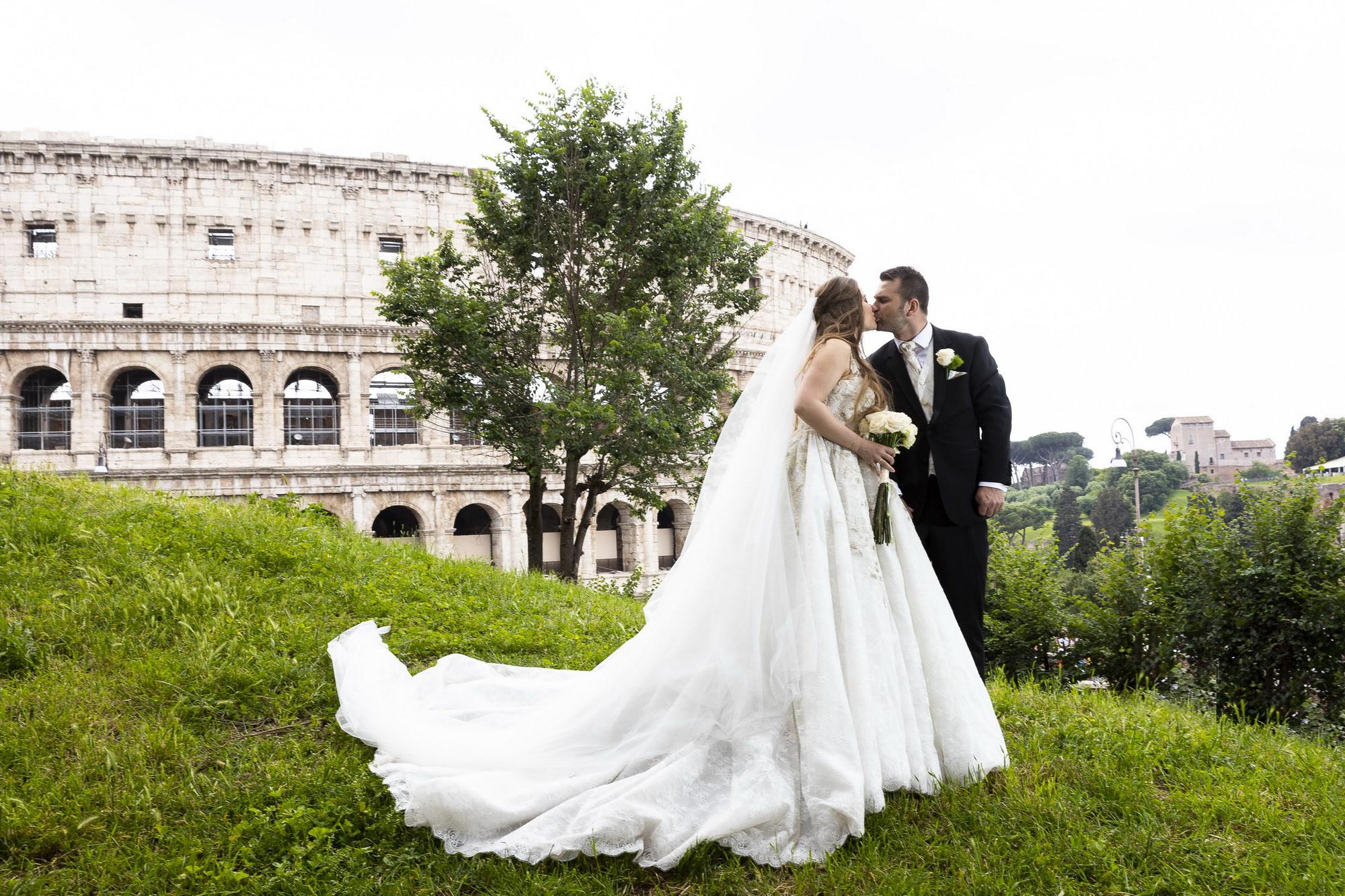 Colloseum Wedding Portrait