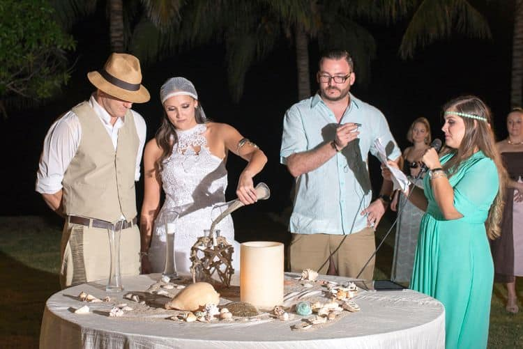Sand ceremony given by best man and maid of honor