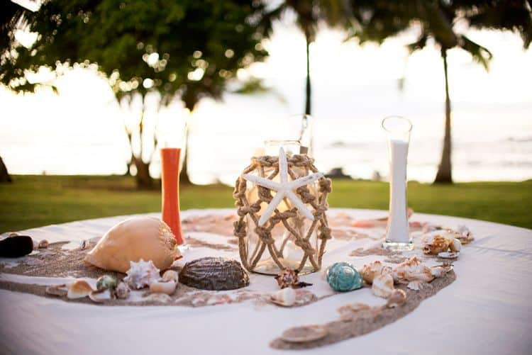 Beach wedding sand ceremony