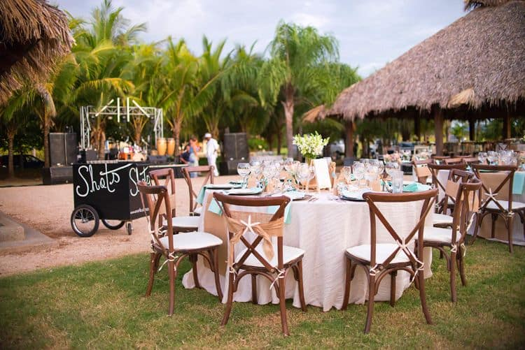 Beach themed wedding in Costa Rica