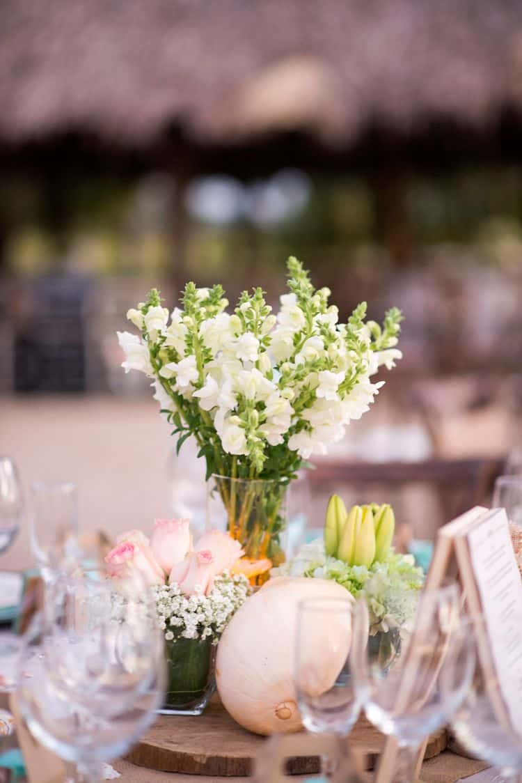 Costa Rica Wedding centerpiece