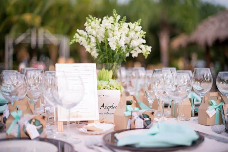 Costa Rica Wedding table