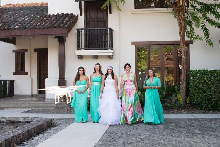 Turquoise beach wedding bridesmaid dresses