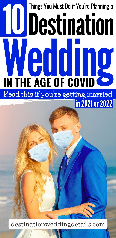 Covid pandemic destination wedding tips pin