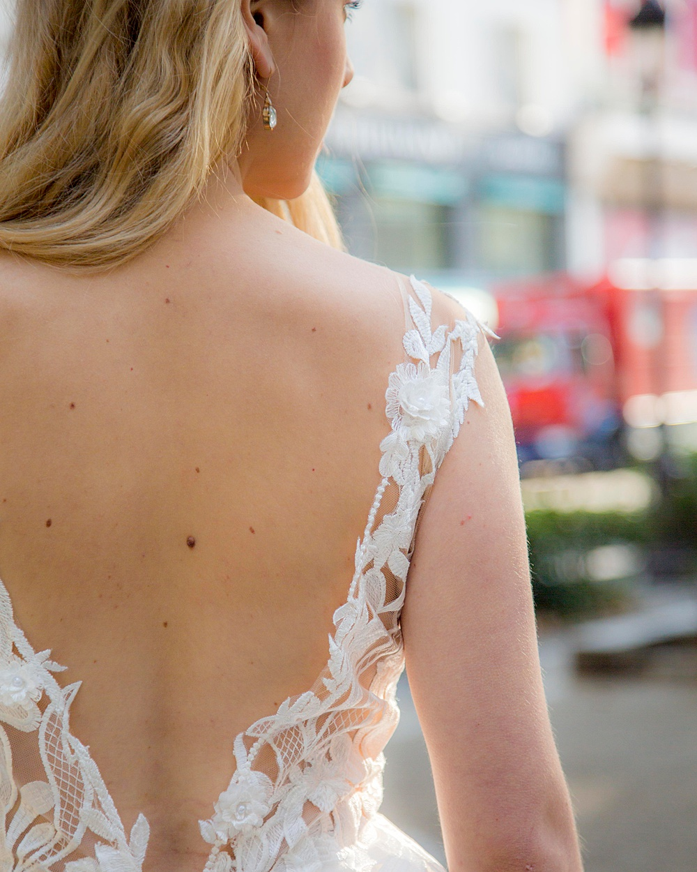 Delicate Lace Wedding Dress Detail