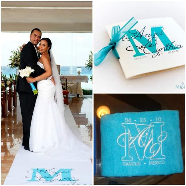Destination Wedding Monogram