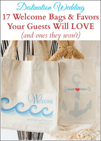 destination wedding welcome bags and favors