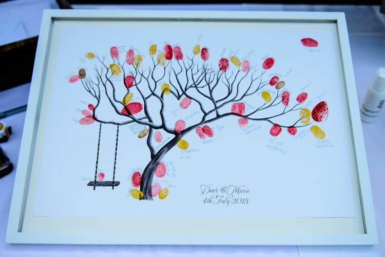 Family tree wedding guestbook alternative