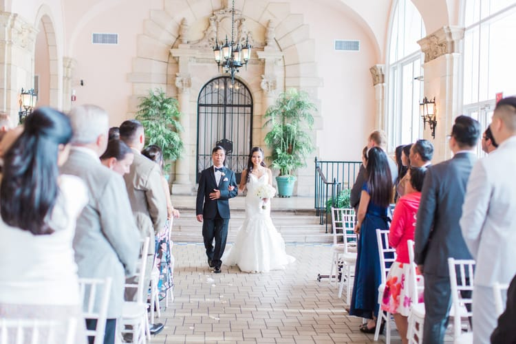destination wedding at the Flager Museum